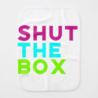Shut The Box Logo Burp Cloth