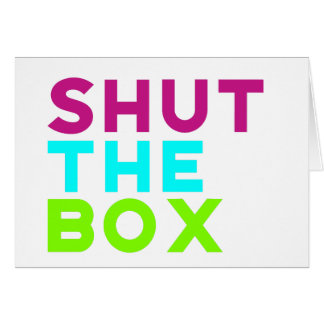 Shut The Box Logo Card