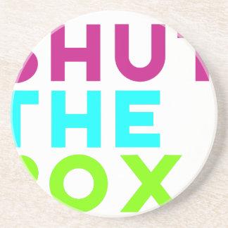 Shut The Box Logo Coaster
