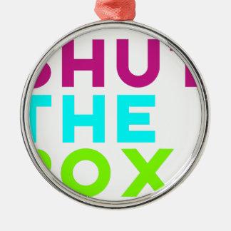 Shut The Box Logo Metal Ornament