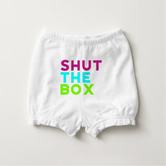 Shut The Box Logo Nappy Cover