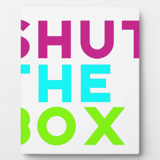 Shut The Box Logo Plaque