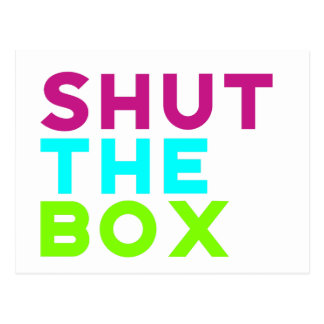 Shut The Box Logo Postcard