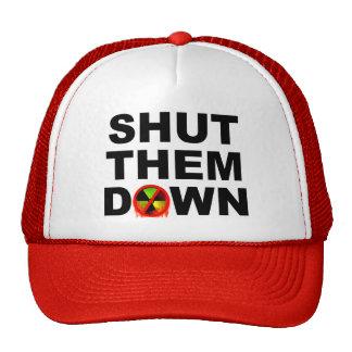 Shut Them Down No Meltdowns Slogan Trucker Hat