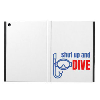 Shut up and dive iPad air cover