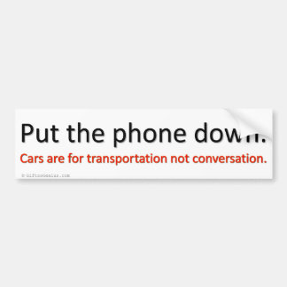 Shut up and drive bumper sticker