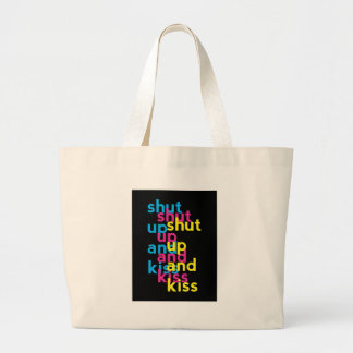 Shut up and kiss, Girls Power Large Tote Bag