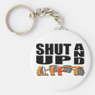 SHUT UP AND LIFT (Bar-Bell) Key Ring