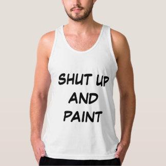 """Shut Up and Paint"" Brotank Singlet"