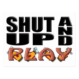 SHUT UP AND PLAY (Golf) Postcard