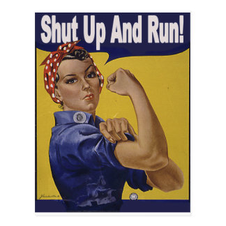 Shut up and RUN!!! Postcard