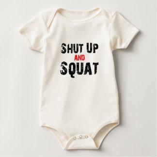 Shut Up and Squat Baby Bodysuit