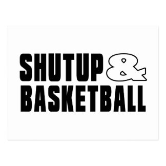 Shut up & BASKETBALL Postcard