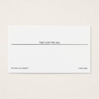 shut-up business card