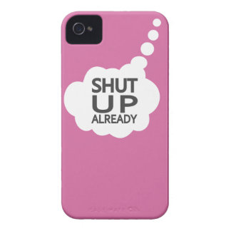 """Shut Up"" Custom Color iPhone case-mate iPhone 4 Case-Mate Cases"