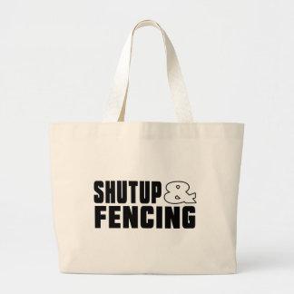 Shut up & FENCING Jumbo Tote Bag