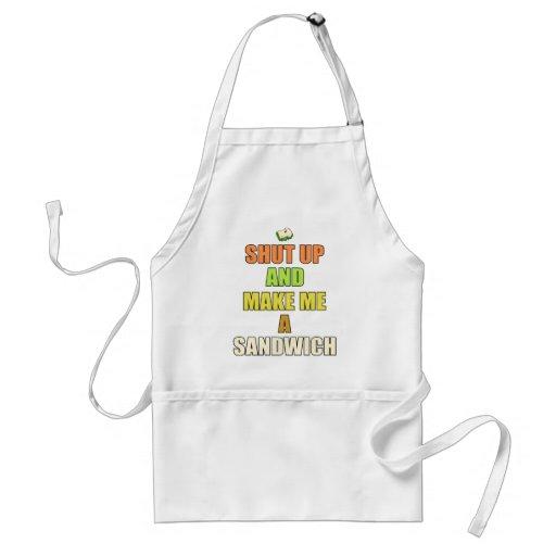 Shut up & make me a sandwich aprons