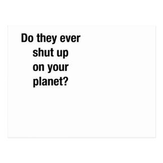SHUT UP! POSTCARD