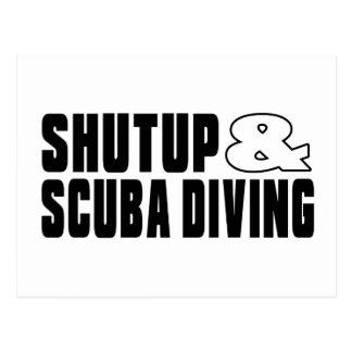 Shut up & SCUBA DIVING Postcard