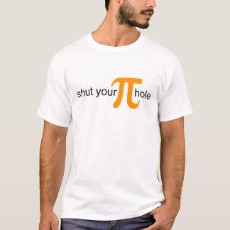 Shut Your Pi Hole Orange Pie Shirt