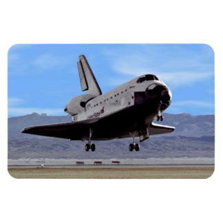 Shuttle Atlantis Landing at Edwards Rectangular Photo Magnet