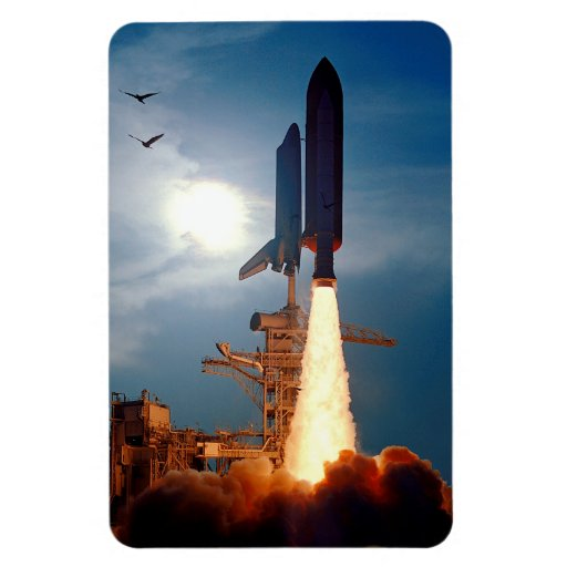 Shuttle Discovery Launch STS-64 Rectangle Magnet
