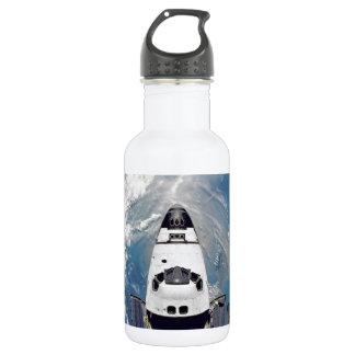 Shuttle Over Earth 18oz Water Bottle