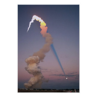 Shuttle Plume Shadow Poster