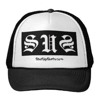 shutupwhite, ShutUpSkate.com Cap