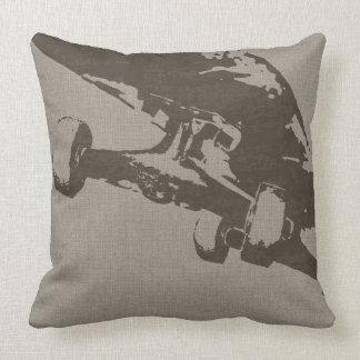 Shuvit Shoveit SkateBoard Taupe Throw Pillow Cushion