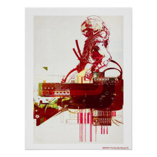 SHWANN: The Futuristic Samurai DJ Print