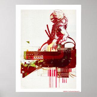 SHWANN The Futuristic Samurai DJ Print