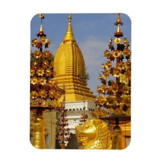 Shwe Zigon Pagoda complex in Bagan (Pagan), Rectangular Photo Magnet