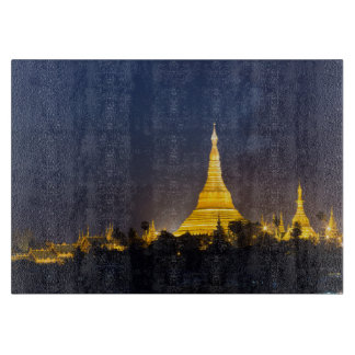 Shwedagon Pagoda At Night Cutting Board