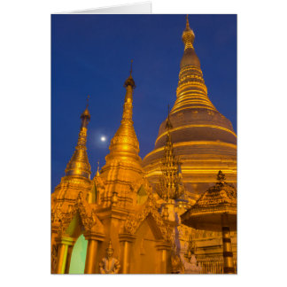 Shwedagon Pagoda at night, Myanmar Card