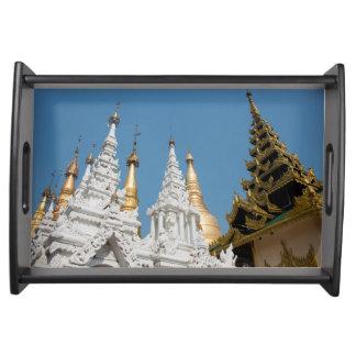 Shwedagon Pagoda Exterior Serving Tray