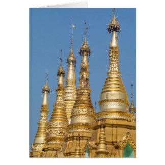 Shwedagon Pagoda Spires Card