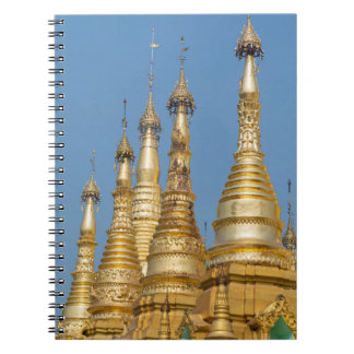 Shwedagon Pagoda Spires Spiral Notebook