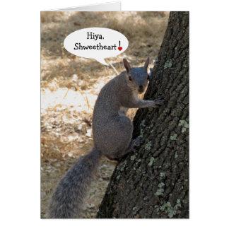 Shweetheart Squirrel Valentine's Day Card