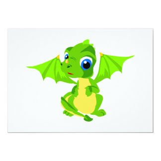 Shy Baby Dragon Card