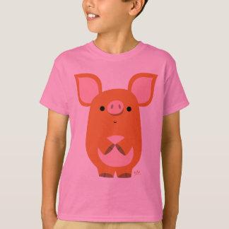 Shy Cartoon Pig custom children  T-shirt