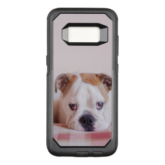 Shy English Bulldog Puppy OtterBox Commuter Samsung Galaxy S8 Case