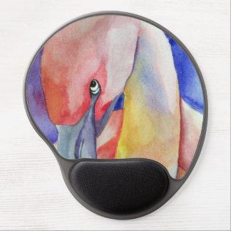 Shy Flamingo (Kimberly Turnbull Art) Gel Mouse Mats