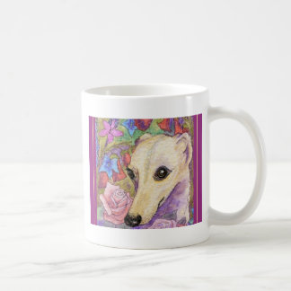 Shy Flower Whippet Coffee Mug