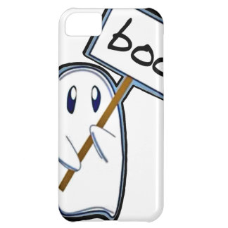 "Shy ghost with ""Boo"" sign (Blue Version) iPhone 5C Case"