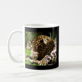 Shy Leopard Coffee Mug