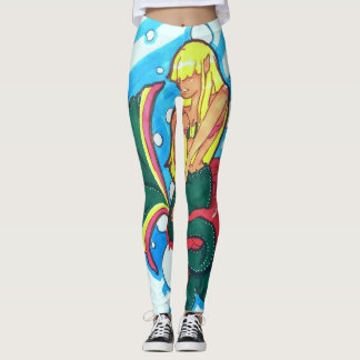 Shy mermaid leggings