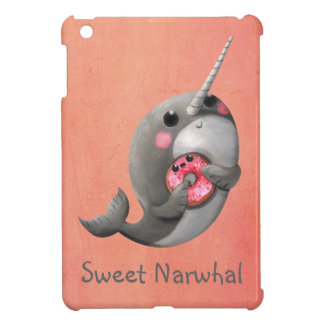 Shy Narwhal with Donut iPad Mini Cases