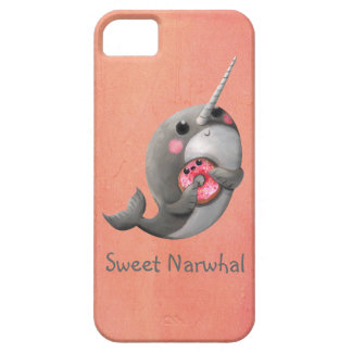 Shy Narwhal with Doughnut iPhone 5 Covers