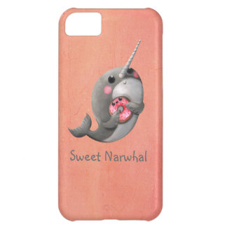 Shy Narwhal with Doughnut iPhone 5C Case
